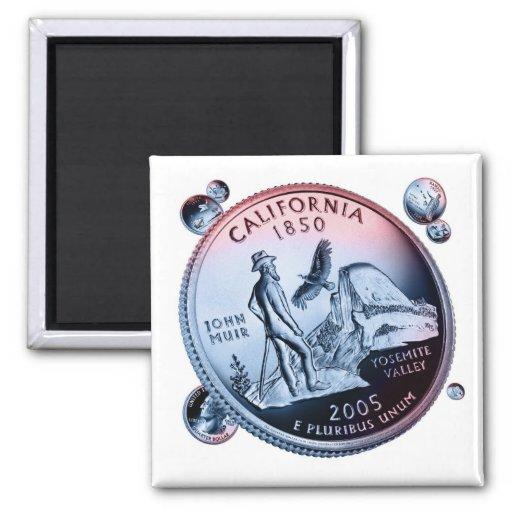 moneda - puñado imán cuadrado