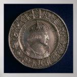 Moneda que lleva el retrato de Charles V Poster