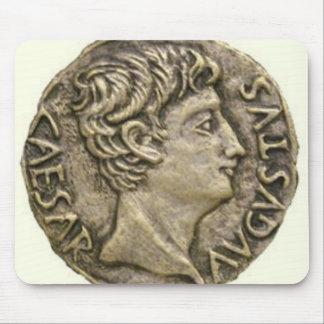 Moneda romana del denario alfombrilla de ratón