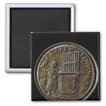 Moneda romana que representa un órgano imanes para frigoríficos