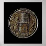 Moneda romana que representa un órgano impresiones
