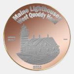 Moneda/símbolo del faro de Quoddy Etiqueta Redonda