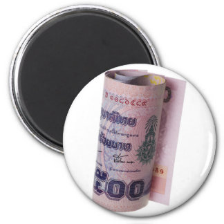 Moneda tailandesa rodada imán redondo 5 cm