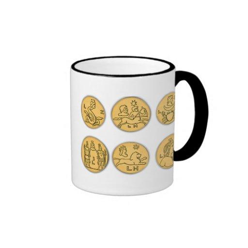 Monedas antiguas tazas de café