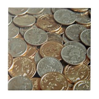 Monedas Azulejo Cuadrado Pequeño
