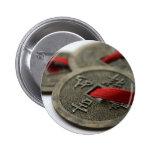 Monedas chinas de la buena suerte pins