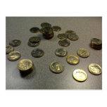 Monedas de diez centavos postal