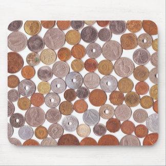 Monedas de la Segunda Guerra Mundial Mousepad