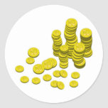 Monedas de oro etiquetas