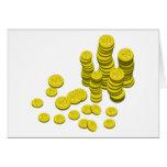 Monedas de oro felicitación