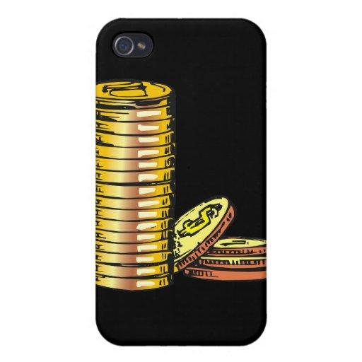 Monedas de oro iPhone 4/4S funda