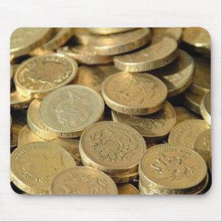 Monedas de oro Mousepad Alfombrilla De Ratón