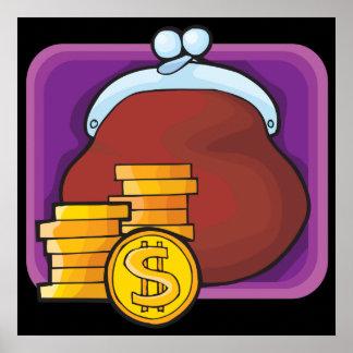 Monedas de oro impresiones
