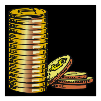 Monedas de oro poster