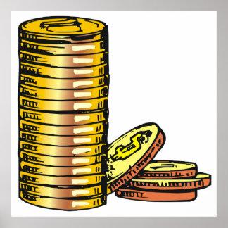 Monedas de oro posters