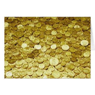 monedas de oro tarjeta