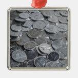 Monedas de plata canadienses adorno de reyes