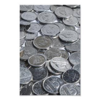 Monedas de plata canadienses impresiones fotográficas