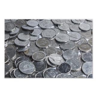 Monedas de plata canadienses fotografías