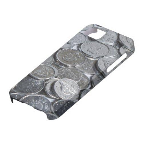 Monedas de plata canadienses iPhone 5 carcasa