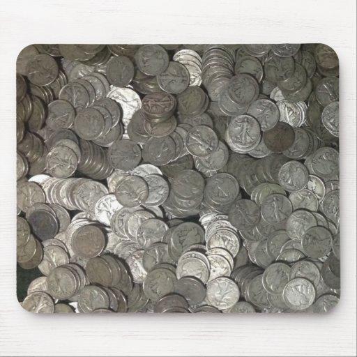 Monedas de plata tapetes de ratones