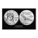 Monedas del lingote del platino de American Eagle Arte Con Fotos
