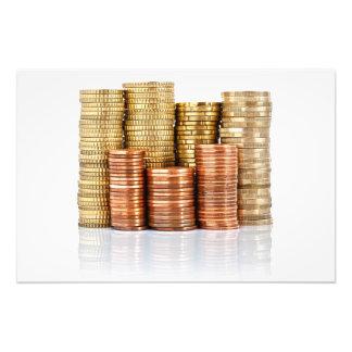 monedas euro impresion fotografica