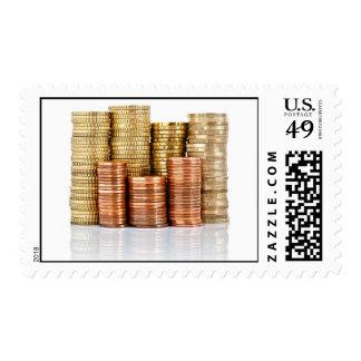 monedas euro sellos