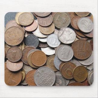 Monedas extranjeras alfombrillas de raton