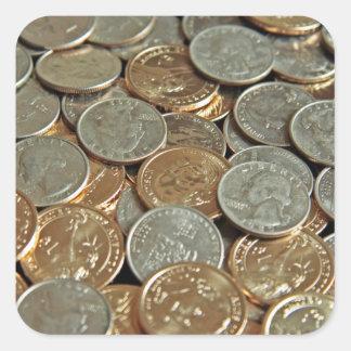 Monedas Pegatina Cuadrada