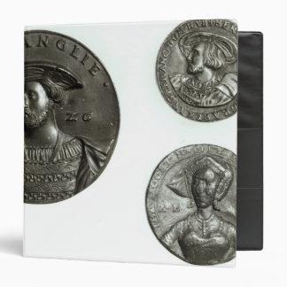 """Monedas que representan Enrique VIII y a Ana Carpeta 1 1/2"""""""
