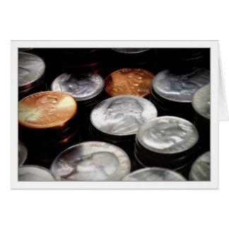Monedas Tarjeta De Felicitación