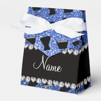 Monedero azul conocido de encargo del vestido de cajas para regalos de boda