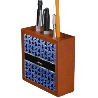 Monedero azul conocido de encargo del vestido de organizador de escritorio