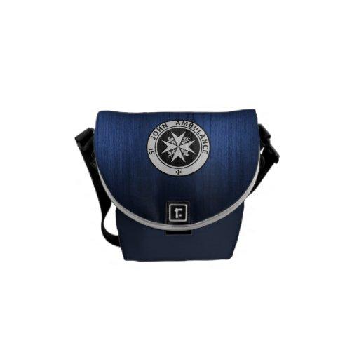 Monedero azul de la caja de llamada de policía bolsa de mensajeria