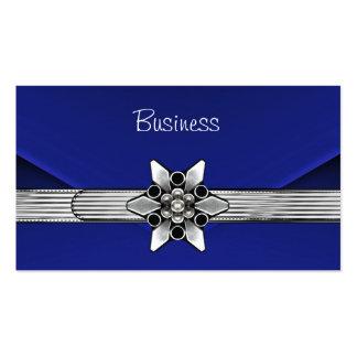 Monedero azul del embrague de la plata del terciop plantillas de tarjetas de visita