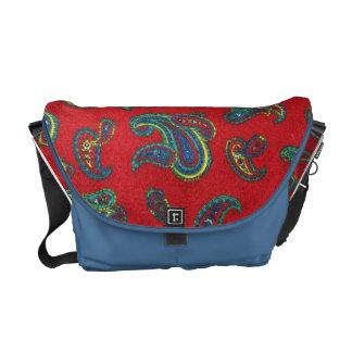 Monedero/bolso rojos retros del modelo de Paisley  Bolsas De Mensajería