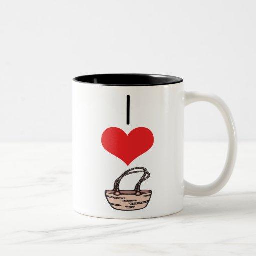 monedero, bolso taza de café