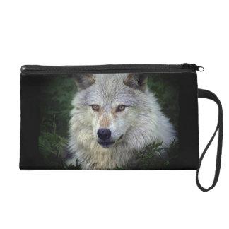 Monedero de la muñeca del animal salvaje del lobo