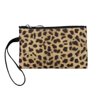 Monedero de la piel del leopardo