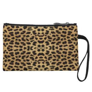 Monedero del embrague del estampado leopardo