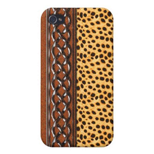 Monedero del embrague del safari iPhone 4 funda