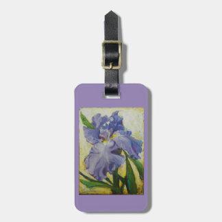 Monedero del equipaje del iris o etiqueta púrpura etiquetas de maletas