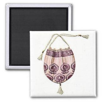 Monedero del vintage imán cuadrado