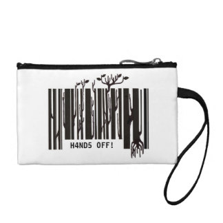 monedero/embrague/bolsa del código de barras