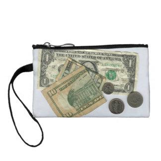 Monedero juguetón con los dólares y los centavos