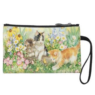 Monedero lindo del embrague de los gatitos