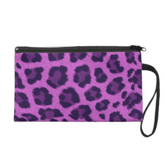 Monedero lindo del embrague en estampado leopardo