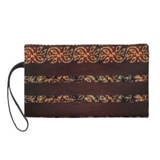 Monedero marrón terrestre del batik