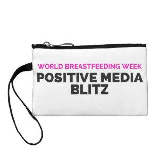 Monedero positivo de los bombardeos de los medios